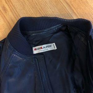 411ba9f6741 Yves Saint Laurent Jackets & Coats - Vintage 80's Yves Saint Laurent  leather jacket